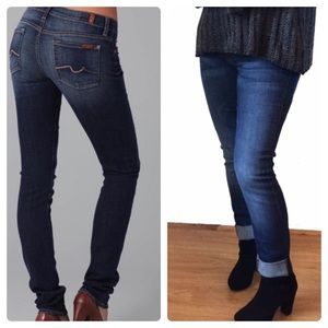 7 For All Mankind Jeans - 7 FAM Roxanne Cuffed Straight Leg Jeans - Like New